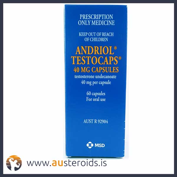 Andriol Testocaps 40mg X 60 Capsules (Testosterone Undecanoate) – Austeroids – Buy Steroids