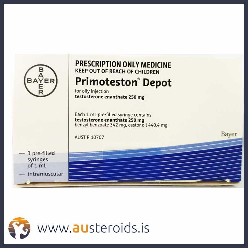 Bayer Primoteston Depot 250mg/ml x 3ml (Testosterone Enanthate) – Austeroids – Buy Steroids